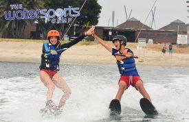 Wakeboarding and Skiing at camp
