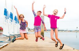 Campers jumping for joy!