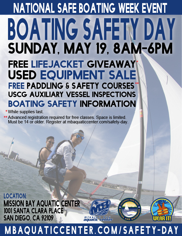 Safe Boating Daay May 19th, 8am-6pm. Free lifejackets while supplies last!