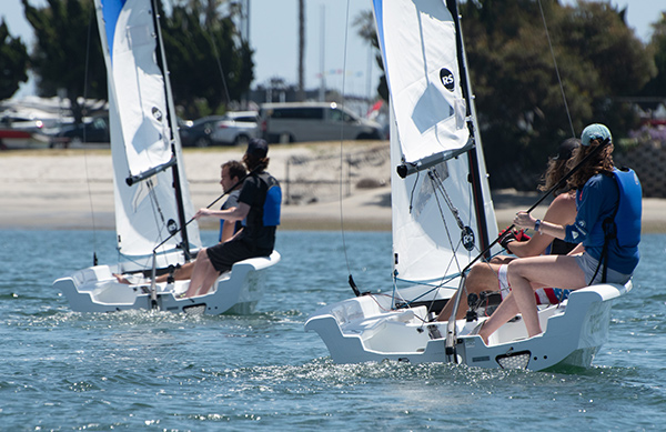 Sailing the RS Quest on Mission Bay