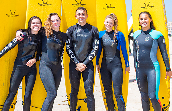 ENS Surfing students