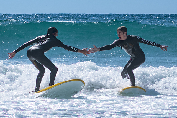 Surfing high five