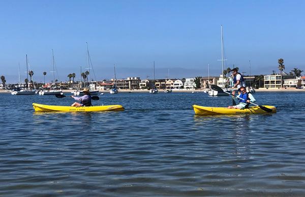 Enjoying her paddling membership
