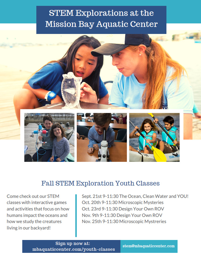 Fall STEM Explorations Schedule - Click for Details