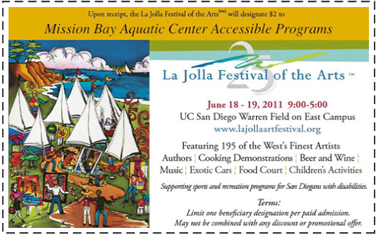 La Jolla Arts Festival coupon