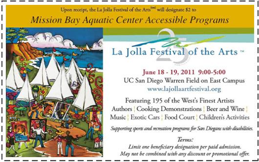 La Jolla Arts Festival coupon