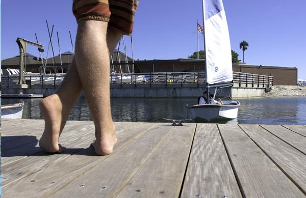 Basic Sailor landing at the dock