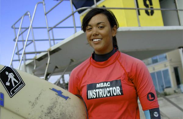 MBAC Surf Instructor Lauren Wilson
